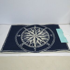 Image Is Loading Transocean Liora Manne Frontporch Comp Navy Indoor Outdoor