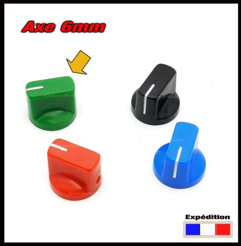 1301# de 1 à 10pcs  bouton pour potentiomètre axe 6mm