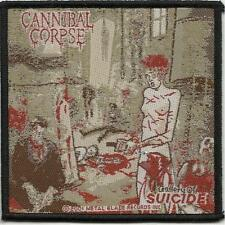 CANNIBAL CORPSE suicide 2001 - WOVEN SEW ON PATCH official - no longer made RARE