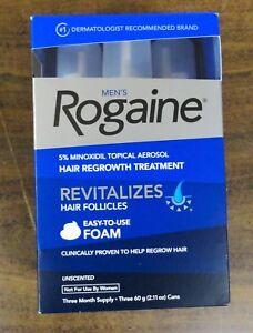 Men-039-s-Rogaine-Foam-Hair-Regrowth-Treatment-Three-3-Month-Supply-New
