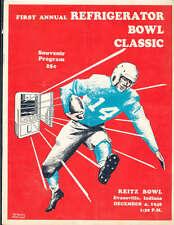 1948 Refrigerator Bowl football program Missouri Valley vs Evansville