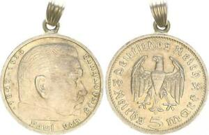 Germany/Empire Pendant With 5 M Hindenburg 1935 Good Condition
