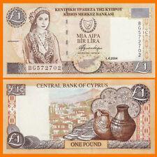 Cyprus One Pound 1-4-2004 Pick-60d Gem UNC