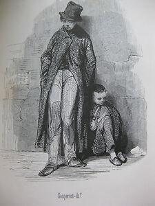 1846-Oeuvres-choisies-De-Gavarni-Fourberies-de-femmes-Clichy-Paris-le-soir