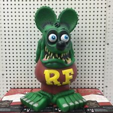 """13"""" Green Brown Rat Fink Action Figure Roth Ed Big Daddy  Statue Model Toy"""