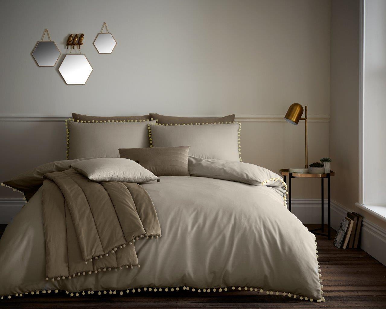 Pom POM Moderno SET Design Di Lusso Copripiumino SET Moderno Quilt Cover Set Set di biancheria da letto fc489c