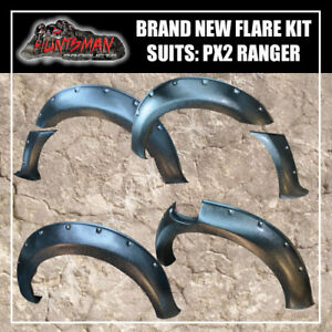 Flares-Kit-suits-PX2-Ford-Ranger-Textured-Black-finish-6-piece-kit-2015