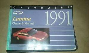 1991 chevrolet lumina owners manual ebay rh ebay com 1995 Chevy Lumina 1997 Chevy Lumina
