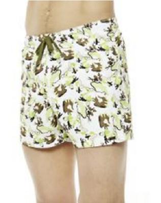 Mens Nero La Perla Green Khaki and White Striped Swim Shorts Trunks RRP £111