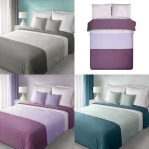 Bettwasche 155x200 200x220 Set Garnitur 3lg Violett Creme Turkis