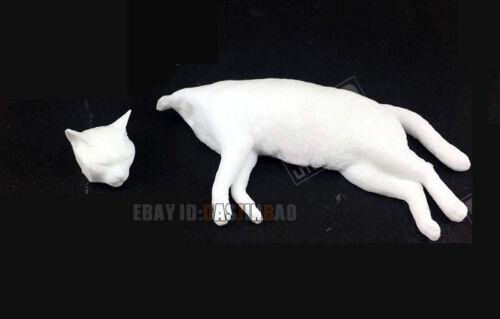 Unpainted Animal Resin Figure Model Kit Garage Cat Sleeps Lying Down Unassembled