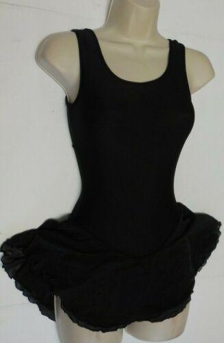 Details about  / Ladies ICE SKATE DANCE CLOVERLEAF BACK DRESS Black Petite Adult