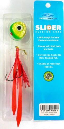 Ocean Angler Slider 100gr Sliding Lure Color Candy Apple