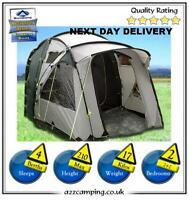 Up Once Only Sunncamp Fusion 400 Large Tunnel Tent 4 Person Man Berth