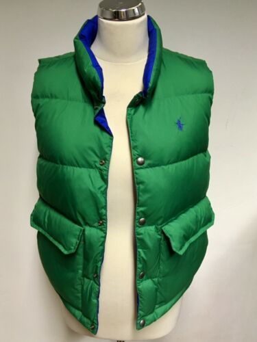 S Filled Green Padded Reversible Size Brand Blue amp; Gilet New Ralph Down Lauren qnxSXw7pf0