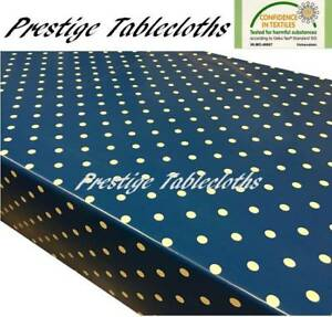 Sage Green Polka Dot Spot PVC Vinyle Facile à Nettoyer Nappe-Toutes Tailles