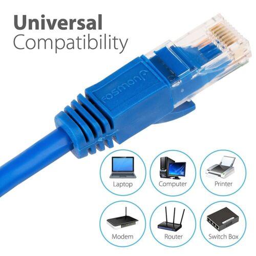 Cat5e Cat6 Ethernet Patch Cable Internet LAN Network Long Modem Router Bulk Lot