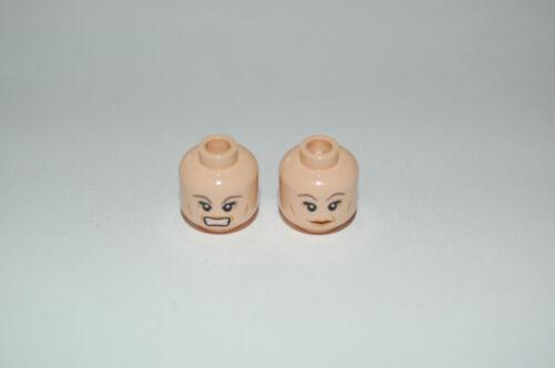 Lego Köpfe Hautfarben,Light Flesh 2x mit  Frauen Gesicht beidseitig Set 1