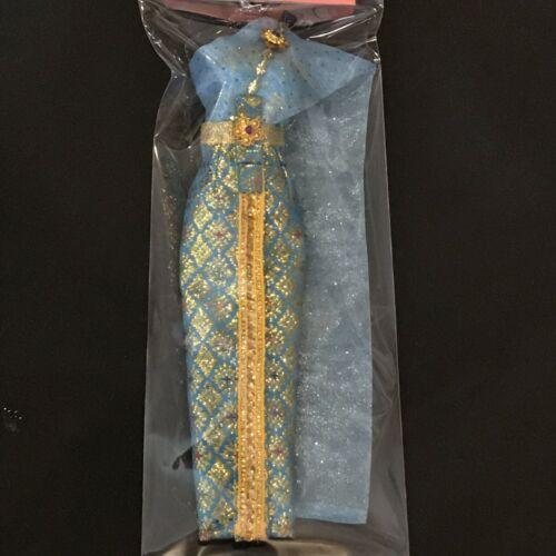 Barbie doll dress Vintage Thai dress Blue Red dress beautiful crafts