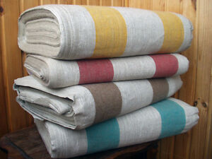 Image Is Loading Fabric Canvas Decorator Upholstery Pure Linen Flax Gray