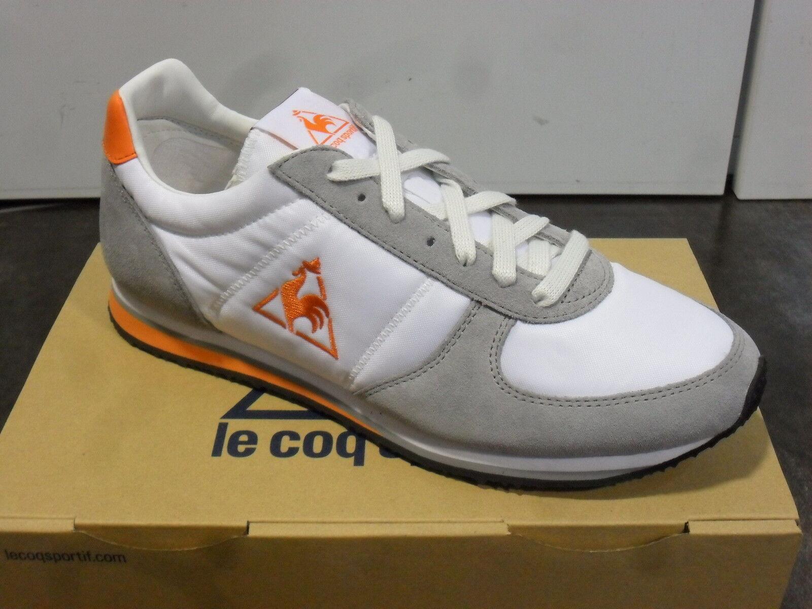 Zapatos casuales salvajes FW14 NR. 40 LE COQ SPORTIF SCARPE TELA UOMO DONNA BOLIVAR BIANCA 1411321
