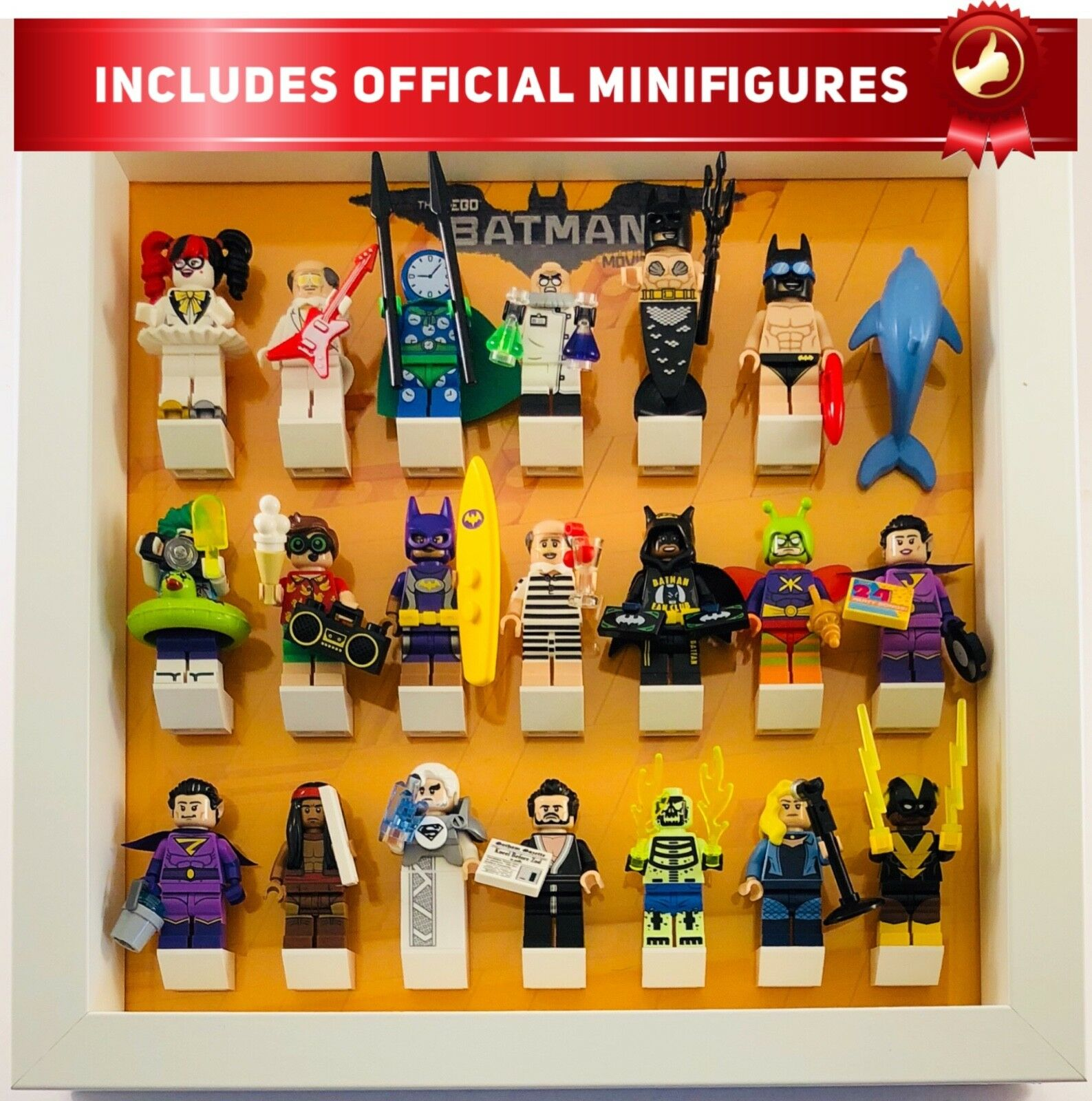 Lego Minifigure Display Frame for Batman Movie Series 2 inc official minifigs