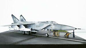 1-72-MIG-31-Foxhound-Polish-Air-Force-Diorama-Jet-late-90s-gebaut-und-lackiert