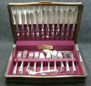 88-Piece-Set-Oneida-Community-Coronation-Silverplate-1936-Dinnerware-Flatware