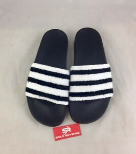 0493cd19327c7e Image is loading New-Adidas-Sweatband-ADILETTE-Slides-Sandals-Mens-Black-