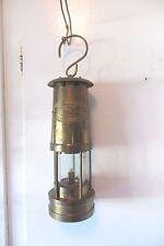E.THOMAS&WILLIAMS BRASS NAUTICAL SHIP LAMP OR COAL MINOR LAMP,MAKERS ABERDARE
