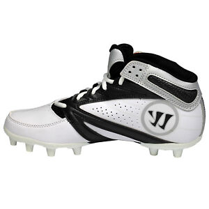 Warrior-2nd-Degree-Senior-Lacrosse-Cleats-White-Black-NEW-Lists-80