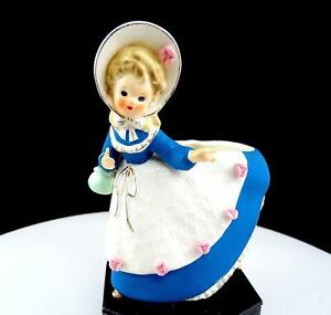 ENESCO-JAPAN-LADY-WITH-PURSE-IN-BONNET-5-1-2-034-FIGURINE-PLANTER