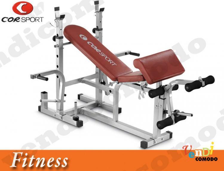 Panca CORSPORT supporto bilanciere addominali palestra pesi peso home fitness