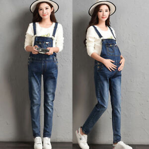 2fb24fb2203 Image is loading Skinny-Jumpsuits-Dungarees-Jeans-Denim-Trousers-Slim-Pants-