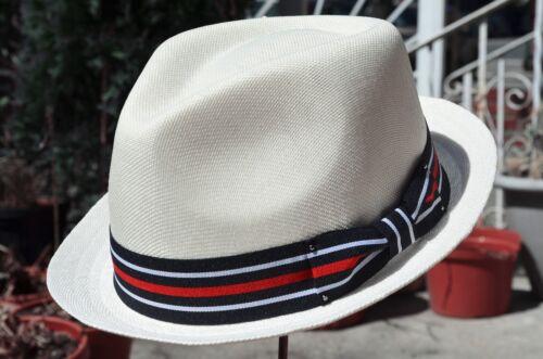 Men/'s Summer Lightweight Vent Linen Cotton Blend Fedora Porkpie Hat Cap 3 Colors