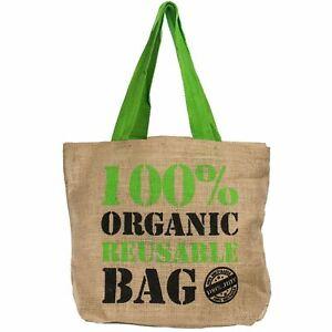 Eco Friendly Grocery Shopping Sac Réutilisable Naturel Jute De Hesse Sac Cabas-afficher Le Titre D'origine à Vendre