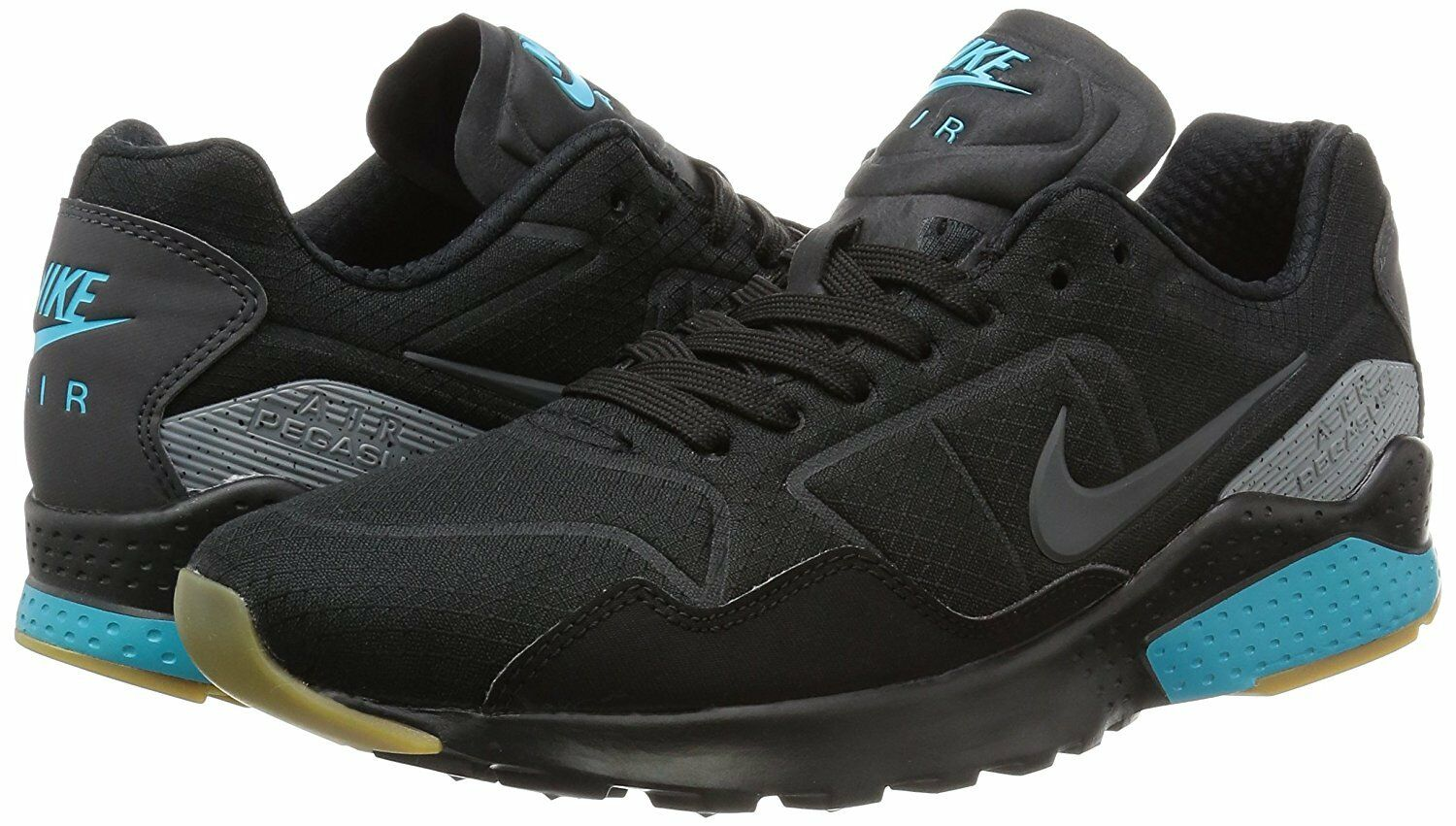 Men's Nike Zoom Pegasus 92 Casual Shoes, 844652 002 Size 13 Black/Anthracite/Gam