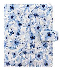 Filofax Pocket Size Personal Organiser Diary - 'Patterns' Indigo Floral 027043