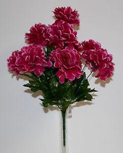Bouquet-Chrysantheme-boule-x-10-Fleurs-Artificielles-interieur-exterieur