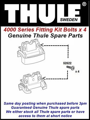 Genuine Thule Pack Of 4 X Bolts For 753 Footpack Using