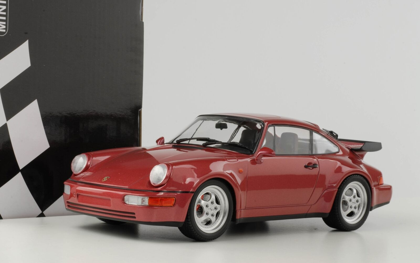 Porsche 911 964 3.6 Turbo red Métallique Diecast 1 18 Minichamps 155069100