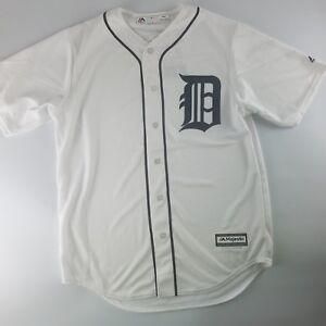 online store 6ca08 fb825 Details about Detroit Tigers MLB Official Majestic Cool Base Home White  Jersey Men's