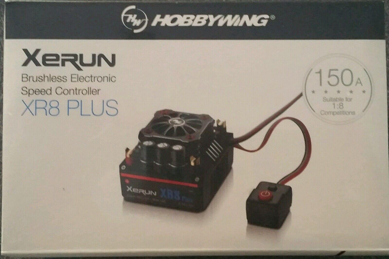 HOBBYWING XERUN 150A XR8 Sensored 1/8TH Esc, Genuino PLUS producto, Sellado