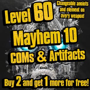 PC-PS4-XBOX-Buy-2-Get-1-Free-Lvl-60-Mayhem-10-Legendary-Gear-Borderlands-3