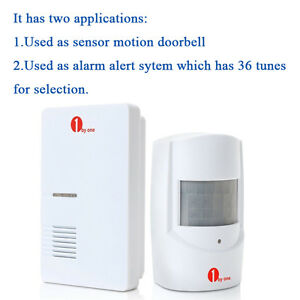 Image is loading WIRELESS-MOTION-SENSOR-DETECTOR-DOOR-GATE-ENTRY-BELL-