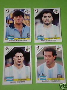 Panini-WM-90-1990-4-x-Extrasticker-Argentinien