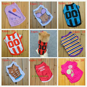 New-100-Cotton-Pet-Puppy-Dog-Cat-Coat-Clothes-Stripe-T-Shirt-Vest-Free-Shipping