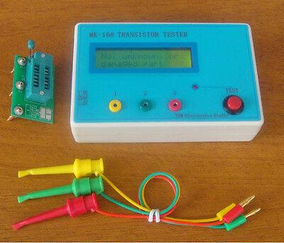 NEW Transistor Tester Diode Triode Capacitance ESR resistance Meter MOS PNP NPN