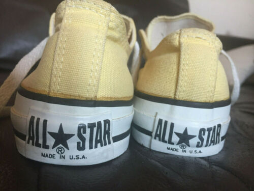 Converse ALL STAR (1980's) Made in USA! Yellow!