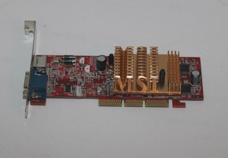 + MSI ATI Radeon RX9250 T 128MB VGA TV AGP Graphics Card Passive +